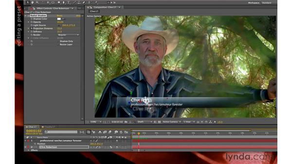 Applying text animation presets: Premiere Pro and After Effects: Creating Title Graphics