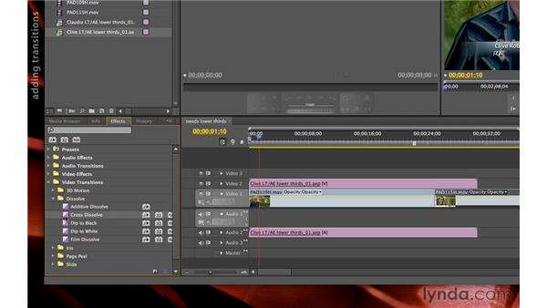 Dynamic linking between After Effects and Premiere Pro: Premiere Pro and After Effects: Creating Title Graphics