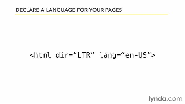 Defining a language for a page: Improving SEO Using Accessibility Techniques