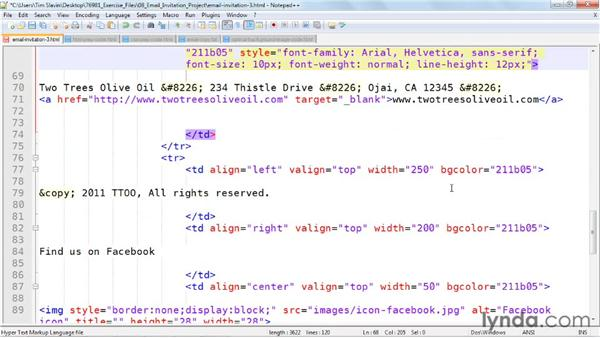Placing your copy in the code: Creating an HTML Email Newsletter