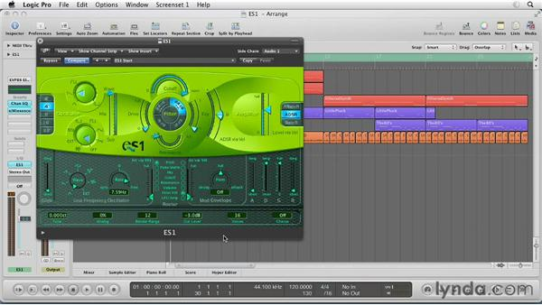 Getting started with the ES1: Virtual Instruments in Logic Pro