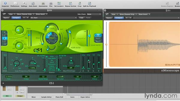 Modulating the cutoff with ADSR: Virtual Instruments in Logic Pro