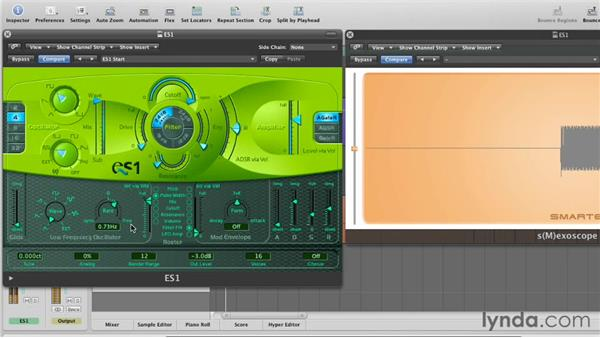 Creating movement with the LFO: Virtual Instruments in Logic Pro