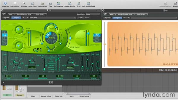 Using the Modulation envelope to add contour: Virtual Instruments in Logic Pro