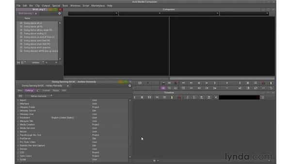 Customizing user settings: Avid Media Composer 6 Essential Training