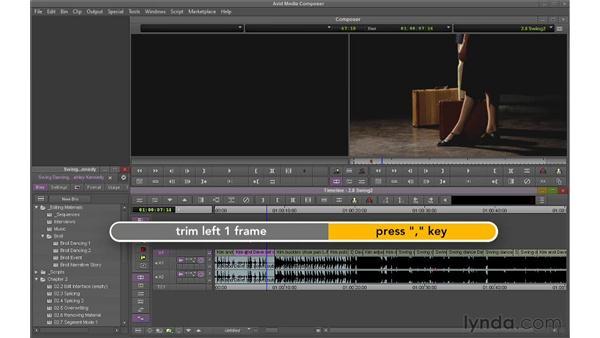 Using Segment mode (Lift/Overwrite) to move shots: Avid Media Composer 6 Essential Training