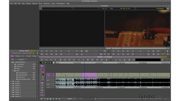 Using Extract/Splice and Lift/Overwrite together: Avid Media Composer 6 Essential Training