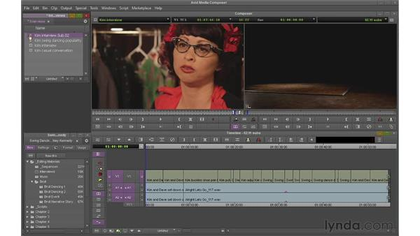 Creating subclips and subsequences: Avid Media Composer 6 Essential Training