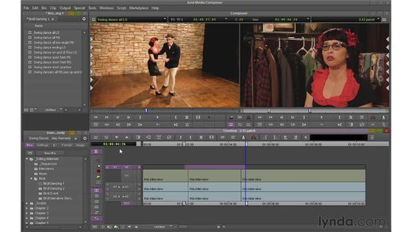 Adding multiple video and audio tracks: Avid Media Composer 6 Essential Training