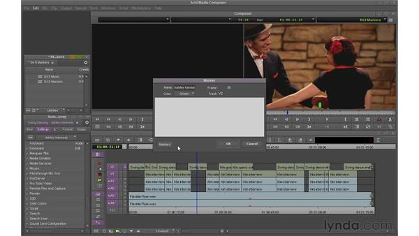 Using markers: Avid Media Composer 6 Essential Training