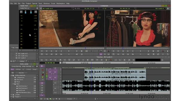 Reading audio levels and pan: Avid Media Composer 6 Essential Training
