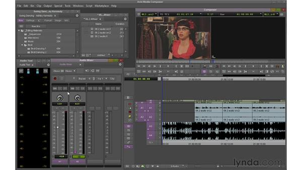 Using the audio mixer: Avid Media Composer 6 Essential Training