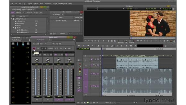 Recording audio adjustments on the fly: Avid Media Composer 6 Essential Training