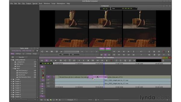 Using the Transition Manipulation tool: Avid Media Composer 6 Essential Training