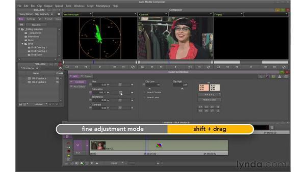Using the Vectorscope to improve skin tones: Avid Media Composer 6 Essential Training