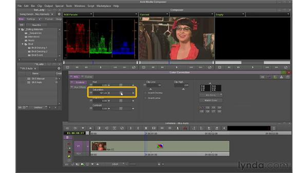 Using auto color correction: Avid Media Composer 6 Essential Training