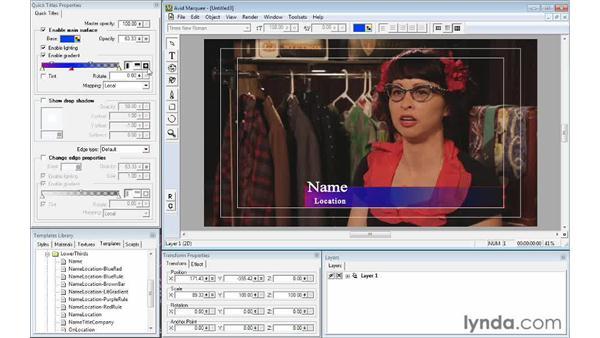 Using title templates: Avid Media Composer 6 Essential Training