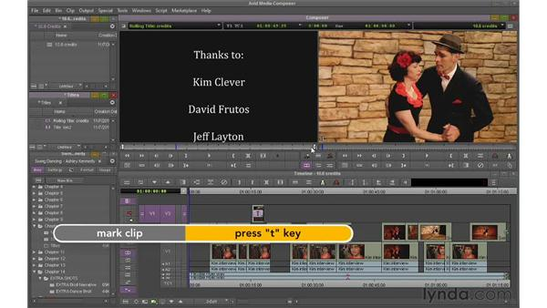 Creating rolling and crawling titles: Avid Media Composer 6 Essential Training