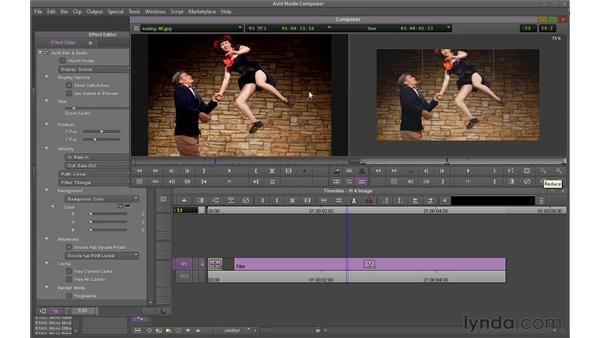 Linking to hi-res stills: Avid Media Composer 6 Essential Training