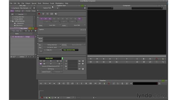 Capturing footage: Avid Media Composer 6 Essential Training