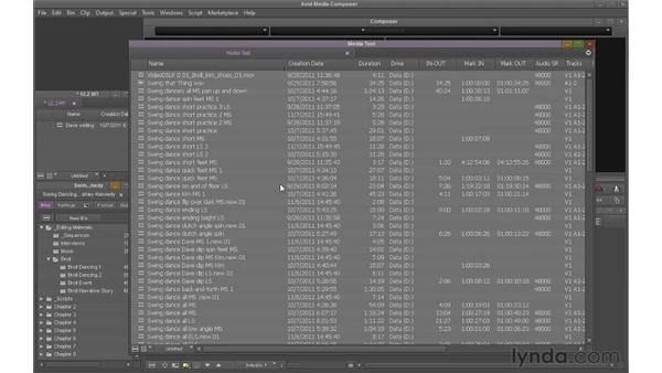Understanding the Media tool: Avid Media Composer 6 Essential Training