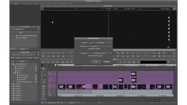 Preparing your sequence for output: Avid Media Composer 6 Essential Training