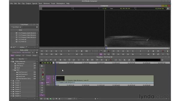 Performing a digital cut: Avid Media Composer 6 Essential Training