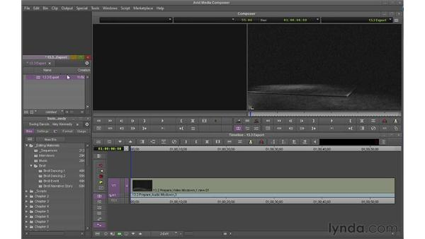 Exporting your sequence as a file: Avid Media Composer 6 Essential Training
