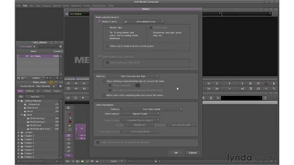 Re-linking media: Avid Media Composer 6 Essential Training