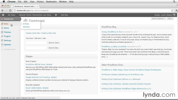 Getting to know the network admin interface: Creating and Managing a Blog Network with WordPress