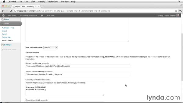 Importing users from another blog: Creating and Managing a Blog Network with WordPress