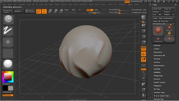 Installing custom brushes: Digital Creature Creation in ZBrush, Photoshop, and Maya
