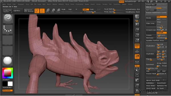 Using DynaMesh: Digital Creature Creation in ZBrush, Photoshop, and Maya