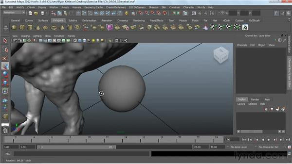 Making an eyeball: Digital Creature Creation in ZBrush, Photoshop, and Maya