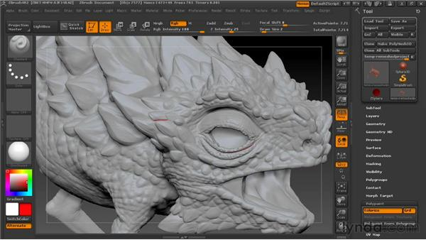 Drawing guidelines for retopology: Digital Creature Creation in ZBrush, Photoshop, and Maya