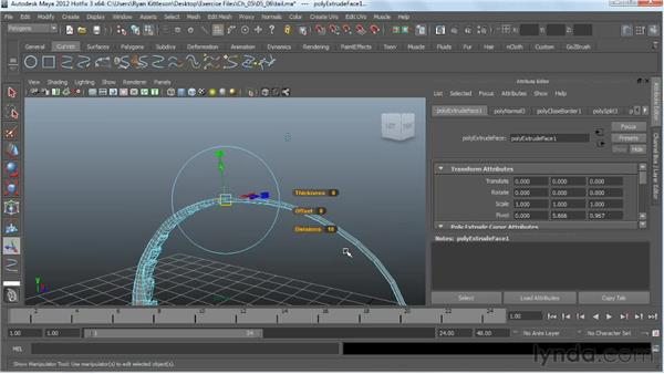 Modeling the tail in Maya: Digital Creature Creation in ZBrush, Photoshop, and Maya