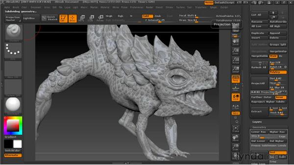 Projecting detail to new topology: Digital Creature Creation in ZBrush, Photoshop, and Maya