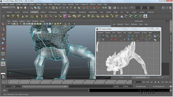 Cutting UV seams: Digital Creature Creation in ZBrush, Photoshop, and Maya