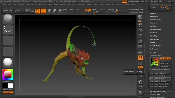 Using UV Master to unfold UVs: Digital Creature Creation in ZBrush, Photoshop, and Maya