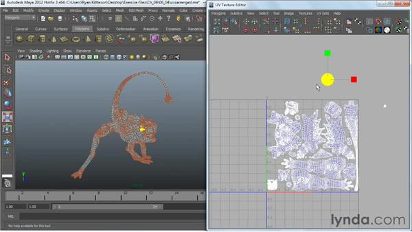 Arranging UVs in Maya: Digital Creature Creation in ZBrush, Photoshop, and Maya