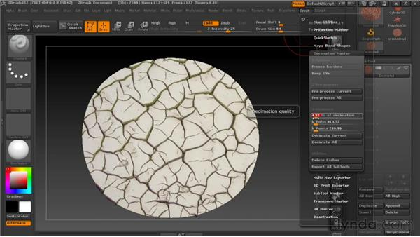 Decimating the geometry: Digital Creature Creation in ZBrush, Photoshop, and Maya