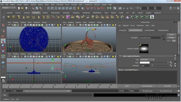 Making a rim light: Digital Creature Creation in ZBrush, Photoshop, and Maya