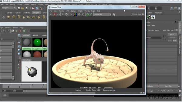 Setting up a simple SSS skin shader: Digital Creature Creation in ZBrush, Photoshop, and Maya