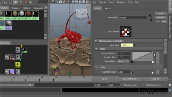 Editing remap value nodes: Digital Creature Creation in ZBrush, Photoshop, and Maya