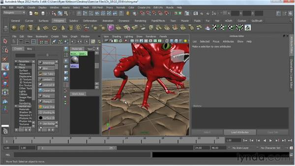 Finishing touches in Maya: Digital Creature Creation in ZBrush, Photoshop, and Maya
