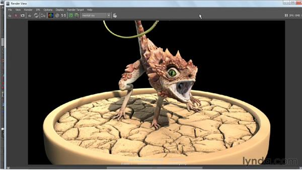 Fine-tuning lights and render settings: Digital Creature Creation in ZBrush, Photoshop, and Maya