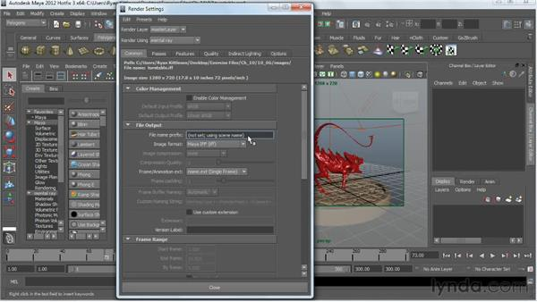 Batch rendering a turnable animation: Digital Creature Creation in ZBrush, Photoshop, and Maya