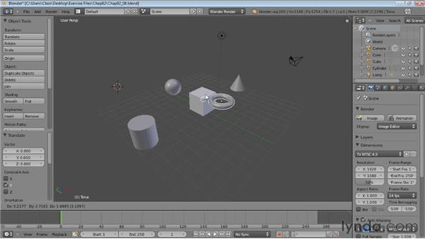 Using Snap to move objects precisely: Blender Essential Training