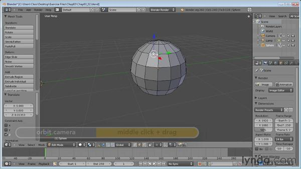 Selecting vertices, edges, and faces: Blender Essential Training