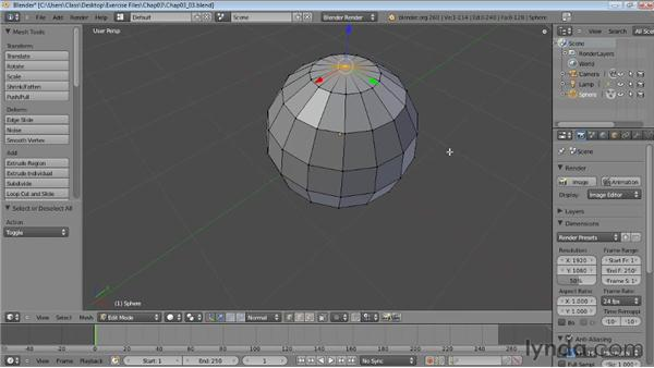 Editing mesh objects: Blender Essential Training